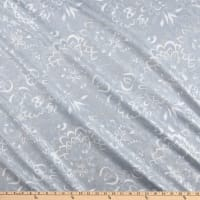 Jubilee Silver Metallic Floral Light Gray