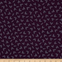 Jubilee Silver Metallic Little Leaves Plum