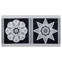 "Jubilee Silver Metallic Jubilee Ruler 24"" Panel Silver/Black"