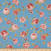 Zelie Ann Else's Flowers Teal