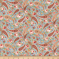 Zelie Ann Floral Paisley Teal