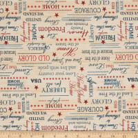 Benartex Home of the Free Patriotic Words Beige