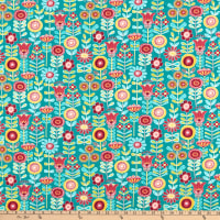 Contempo Choose To Shine Sunshine Floral Teal