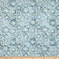 Benartex Bali Eden Batik Flowerbed Winter Blue