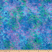 Benartex Bali Eden Batik Flowerbed Grape/Multi