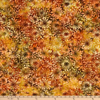 Benartex Bali Eden Batik Flowerbed Earth Multi