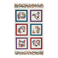 "Benartex Dog On it Dog On it 24"" Panel White/Multi"
