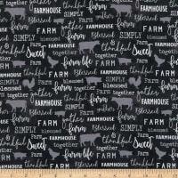 Contempo Farm Sweet Farm Chalkboard Charcoal
