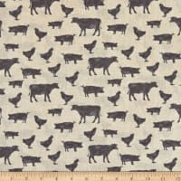 Contempo Farm Sweet Farm Farm Animals Tan Grey