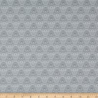 Benartex Magnificent Blooms Nouveau Grey