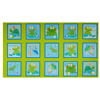 """Kanvas Toadily Cute Toadily Cute Boxes 25"""" Panel Lime"""
