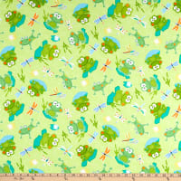 Kanvas Toadily Cute Hop Along Frogs Lime