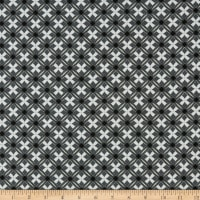 Stoffabric Denmark Bubblegrid Lattice Dark Grey