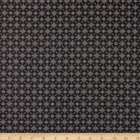 Stoffabric Denmark Bubblegrid Floral Dots Black