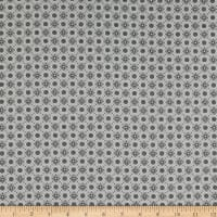 Stoffabric Denmark Bubblegrid Floral Dots Dark Gray