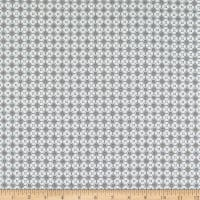 Stoffabric Denmark Bubblegrid Floral Dots Ivory