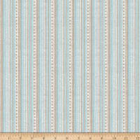 Stoffabric Denmark Gloria Stripes & Stars Light Blue