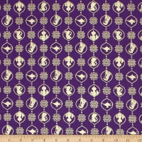 Aladdin Silhouette Damask Metallic Purple
