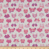 Laura Ashley The Girls Cat Faces White