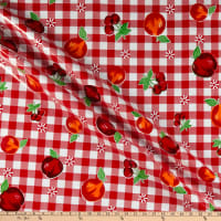Oilcloth Riverside Red