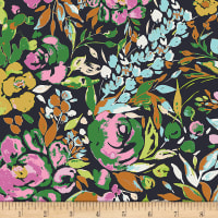 Art Gallery Indigo and Aster La Floraison Dim in Rayon
