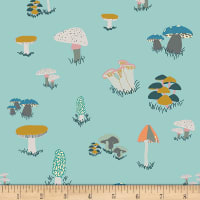 Art Gallery Jersey Knit Fantasia Agaricus Forest Water