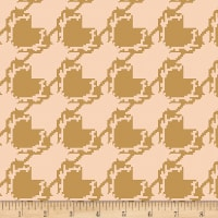 Art Gallery Blithe Deer Houndstooth Tan in Knit