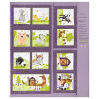 "Susybee Barnyard Buddies Storybook 36"" Panel Purple"