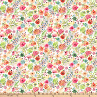 Dear Stella Digital Zen Kitty Floral Daze Multi