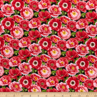 Henry Glass Poppy Meadow Small Packed Poppies Red