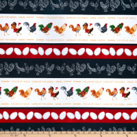 Henry Glass Farm Raised Rooster Border Stripe Multi