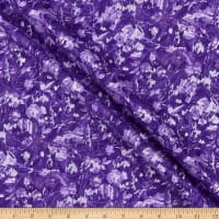 Henry Glass Pearl Luxe II Marble Floral Purple
