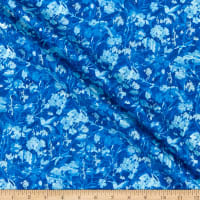 Henry Glass Pearl Luxe II Marble Floral Blue