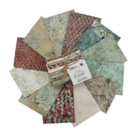 Hoffman Bali Batik Oasis Fat Quarter Bundle Adobe 12pcs