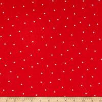 Telio Blossom Yoryu Chiffon Small Dot Print Red White
