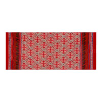 Telio Robin Poly Faille Border Print Abstract Red