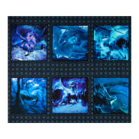 "In The Beginning Fabrics Digital Dragons Blue Fury Small Dragon 36"" Panel Blue"