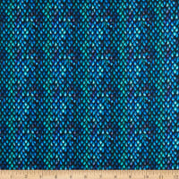 In The Beginning Fabrics Dragons Blue Fury Scales Blue/Black