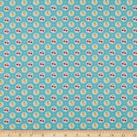 In The Beginning Fabrics Cherry Lemonade Lemons & Cherries Aqua