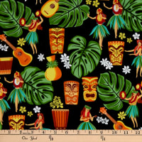 Trans-Pacific Textiles Auntie Hula's Trading Post Black