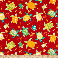 Trans-Pacific Textiles Turtle Island Currents Red