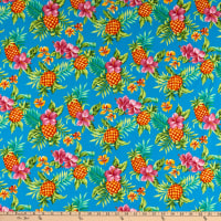 Trans-Pacific Textiles Tutu's Pineapple Stand Turquoise