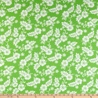 Trans-Pacific Textiles Hibiscus Mini Pareau Lime