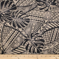 Trans-Pacific Textiles Tribal in Paradise Beige/Black