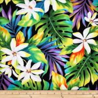 Trans-Pacific Textiles Tiare Color Dreamscape Black