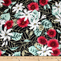 Trans-Pacific Textiles Old Hawaiiana Floral Red