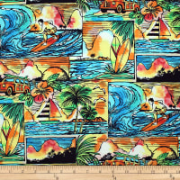 Trans-Pacific Textiles Endless Summer Days Turquoise