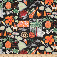 Trans-Pacific Textiles Welcome to the Islands Black