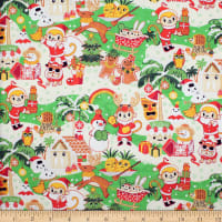 Trans-Pacific Textiles Christmas in Hawaii Green