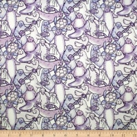 Trans-Pacific Textiles Happy Seals of Approval Purple